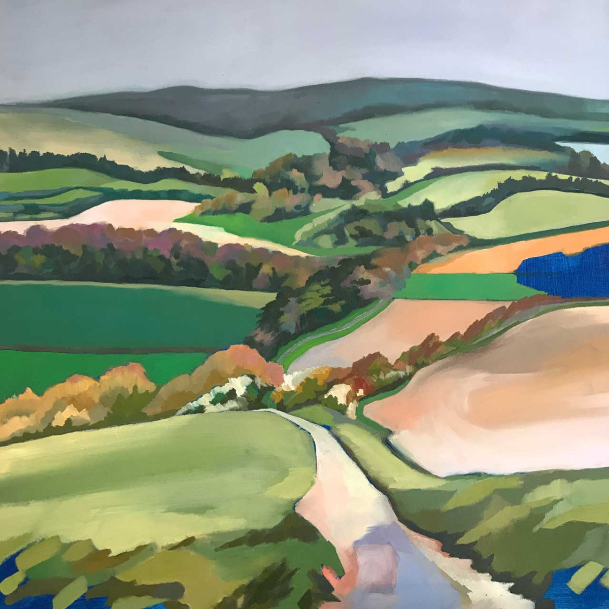 Down From Mount Caburn by Rosie Lascelles