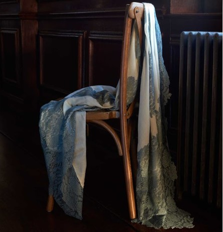 Lace and Cashmere Scarf in the Old Green Room