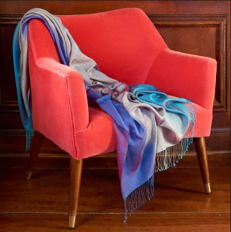 Ombre Scarf in the Old Green Room