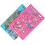 Glyndebourne 'Lily pad' & 'Orchestra' Tea Towel Pair by Charlotte Posner