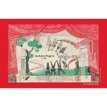 'Drop Curtain' Tea Towel by David Hockney