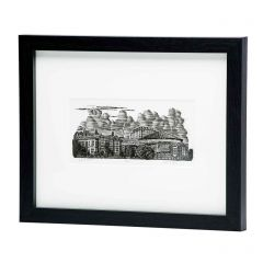 Limited Edition Framed Wood Engraved Print 'Glyndebourne' by Keith A Pettit