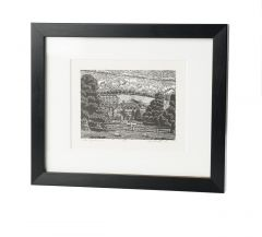 Limited Edition Framed Wood Engraved Print 'Above Glyndebourne' by Keith A Pettit