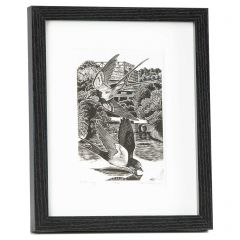 Limited Edition Framed Wood Engraved Print 'On The Wings' by Keith A Pettit