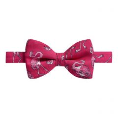 Pink Flamingos Silk Bow Tie
