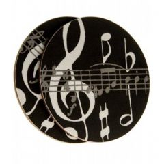 Black Music Notes Coasters