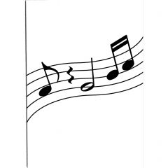 Wavy Music Note Greetings Card