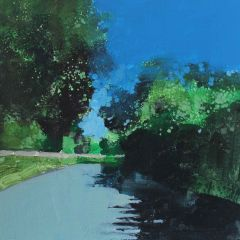 A Hot Afternoon in a Lane Near Glyndebourne by Julian Sutherland-Beatson