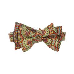 Robert Adam Burnt Orange Silk Self-Tie Bow Tie