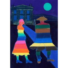 Anne Trulove and her Rake (2020) Etching, E.V 1/35 by Tom Hammick