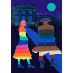 Anne Trulove and her Rake (2020) Etching, E.V 4/35 by Tom Hammick