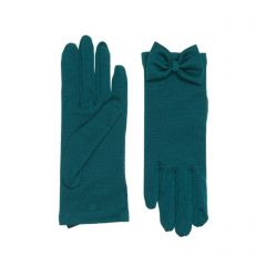 Beatrice Forest Green Merino Wool Gloves