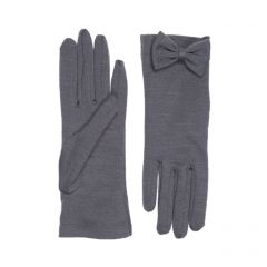 Beatrice Grey Merino Wool Gloves