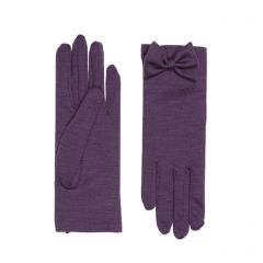 Beatrice Plum Merino Wool Gloves