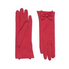 Beatrice Red Merino Wool Gloves