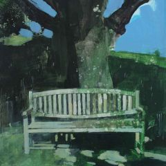 Bench by the Lake by Julian Sutherland-Beatson