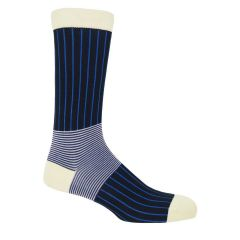 Black Oxford Stripe Socks