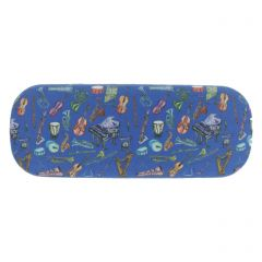 Glyndebourne Blue 'Orchestra' Glasses Case by Charlotte Posner