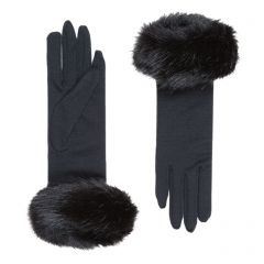 Clementine Merino Wool Gloves with Faux Fur Cuff