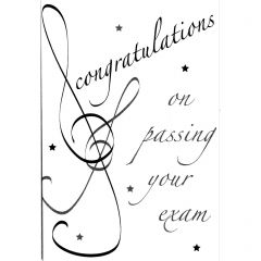 Music Congratulations Greetings Card