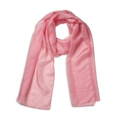 Coral Pink Pure Silk Scarf