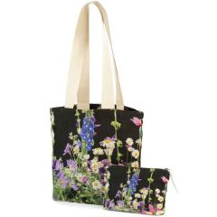 Daisy Meadow Linen Bag and Clutch Set