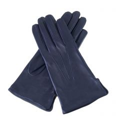 Emilie Navy Leather Gloves