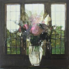Flower Vase in the Old Green Room by Julian Sutherland-Beatson