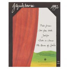 Glyndebourne Festival Programme Book Cover 1992 Poster by Tobias Hoheisel