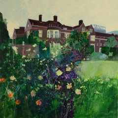 Glyndebourne House with Floral Border by Julian Sutherland-Beatson