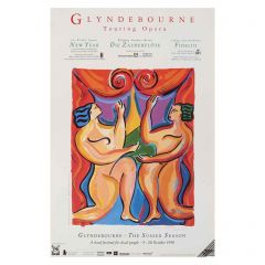 Glyndebourne Tour 1990 Rare Poster by Helen Manning