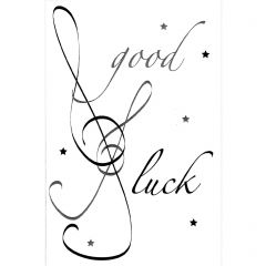 Music Good Luck Greetings Card