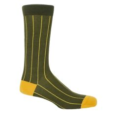 Green Pin Stripe Socks