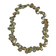 Small Green Keishi Pearl Necklace
