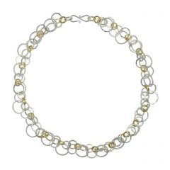 Two Tone Chain Opera Short Necklace