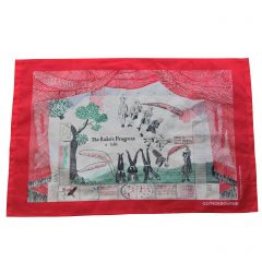 'Drop Curtain' Silk Handkerchief by David Hockney