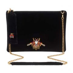 Kyo Clutch Bag - Black Velvet