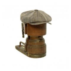 Light Brown Tweed Baker Boy Cap