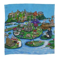 Glyndebourne 'Lily pad' Pocket Square by Charlotte Posner