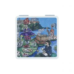 Glyndebourne 'Lily pad' Pocket Mirror by Charlotte Posner
