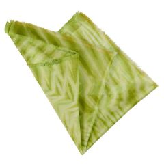 Lime Handmade Silk & Bamboo Pocket Square