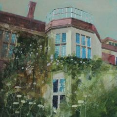 Looking up at Glyndebourne House by Julian Sutherland-Beatson