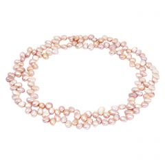 Pink Potato Pearl Loop Necklace