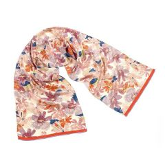 Charles Rennie Mackintosh Flowers Crepe de Chine Silk Scarf