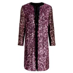 Rejenni Mauve Sequin Coat