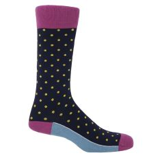 Midnight Polka Socks
