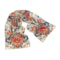 William Morris Dovedale Crepe de Chine Silk Scarf