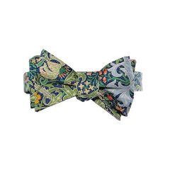 William Morris Golden Lily Green Silk Self-Tie Bow Tie