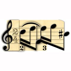 Music Notes 3D Pop Up Greetings Card