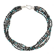 Onyx Multi Strand Necklace